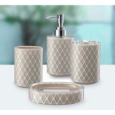 3D Net Work 4 Piece Bathroom Accessory Set