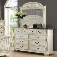 Alexandra 9 Drawer Dresser with Mirror
