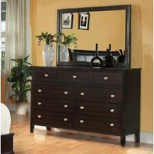 Newton 9 Drawer Dresser with Mirror