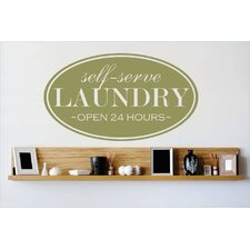 Self Serve Laundry Wall Decal