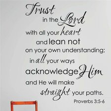 Trust In the Lord with All Your Heart Lean Not on Your Own Understanding Wall Decal