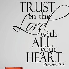 Trust In the Lord with All Your Heart Proverbs Wall Decal