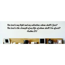 The Lord Is My Light Wall Decal