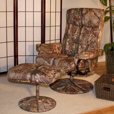 Realtree© Relaxzen Heated and Reclining Massage Chair with Ottoman