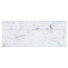 "Bianco Carrara 5"" x 12"" Marble Base Molding Tile (Set of 10)"
