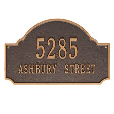 Fitzwilliams Wall 2 Line Arch Address Plaque