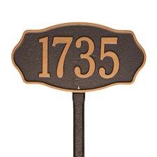 Hampshire Lawn 1 Line Address Sign