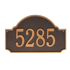 Fitzwilliams Wall 1 Line Arch Address Plaque