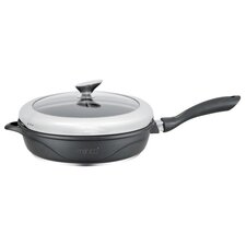 Mahitti Induction Compatible Non-Stick Saute Pan with Lid