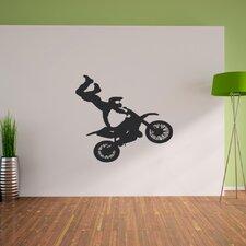 Wandtattoo Moto Cross Biker