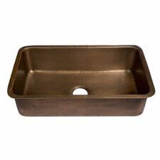 "Orwell 30"" x 18"" Undermount Handmade Single Bowl Kitchen Sink"