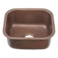 "Sisley Pro 18.5"" x 16.5"" Undermount Handmade Copper Sink Bar Prep Sink"