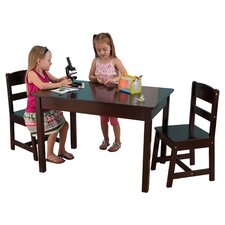 Kids 3 Piece Wood Table and Chair Set
