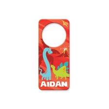 Personalized Dinosaur Door Hanger