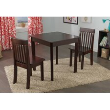 Avalon Kids 3 Piece Square Table and Chair Set