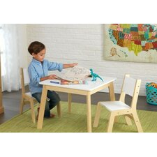 Kids 3 Piece Square Table and Chair Set