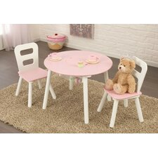Kid's 3 Piece Round Table and Chair Set