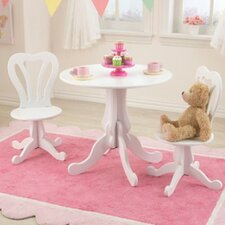 Parlor Kids 3 Piece Round Table and Chair Set