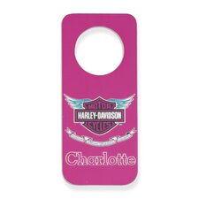 Personalized Harley Davidson Girls Door Hanger
