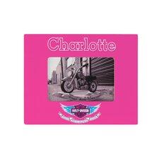 Personalized Harley Davidson Girls Picture Framed Art