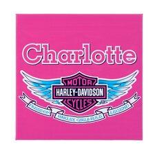 Personalized Harley Davidson Girls Canvas Art