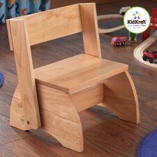 1-Step Manufactured Wood Kid's Flip Step Stool