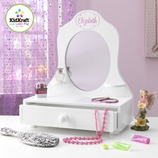 Personalized Tabletop Vanity with Mirror