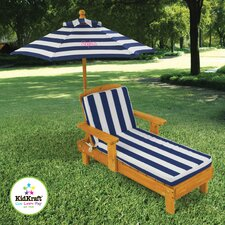 Personalized Chaise with Umbrella