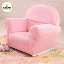 Velour Personalized Kids Rocking Chair