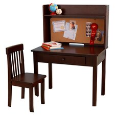 "Pinboard 3 Piece 31"" Writing Desk and Hutch Set"