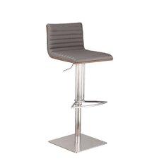 Café Adjustable Height Swivel Bar Stool with Cushion