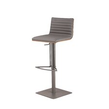 Café Adjustable Height Swivel Bar Stool with Cushion