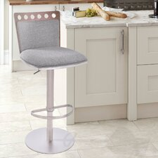 Brooke Adjustable Height Swivel Bar Stool with Cushion