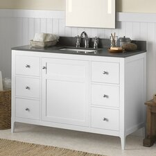 "Briella 48"" Bathroom Vanity Cabinet Base in White"