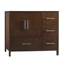 """Juno 36"""" Bathroom Vanity Cabinet Base in Dark Cherry - Doors on Left"""
