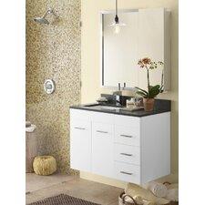 "Bella 35"" Single Wall Mount Bathroom Vanity Set"