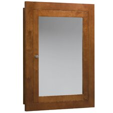 """Neo-Classic 24"""" x 32"""" Solid Wood Framed Medicine Cabinet in Cinnamon"""