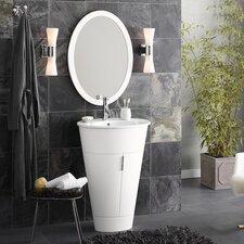 "Leonie 23"" Single Oval Bathroom Vanity Set with Mirror"