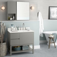 "Chloe 36"" Single Bathroom Vanity Set with Mirror"