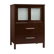 "Minerva 23"" Bathroom Vanity Base Cabinet in Dark Cherry"