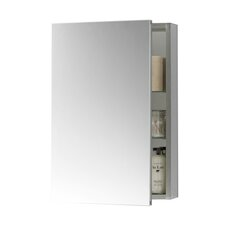 """Contempo 23"""" x 30"""" Metal Frame Medicine Cabinet in Brushed Nickel"""