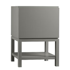 Contempo Jenna Wood Cabinet Vanity Blush Taupe Base