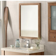 Contemporary Solid Wood Framed Bathroom Mirror in Cinnamon