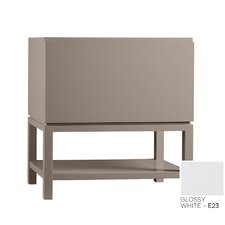 Contempo Jenna Wood Cabinet Vanity Glossy White Base