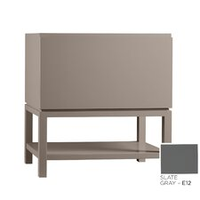 Contempo Jenna Wood Cabinet Vanity Slate Gray Base