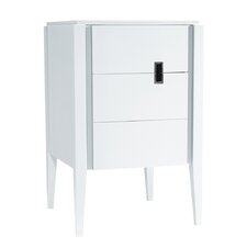 "Zoe 24"" Bathroom Vanity Cabinet Base in Glossy White"