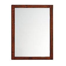 Solid Wood Framed Bathroom Mirror in Rustic Pine
