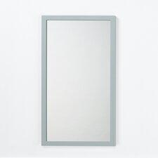 Solid Wood Framed Bathroom Mirror in Ocean Gray
