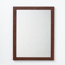 Contemporary Solid Wood Framed Bathroom Mirror in American Walnut