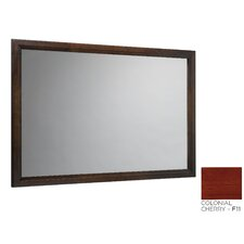 Solid Wood Framed Bathroom Mirror in Colonial Cherry